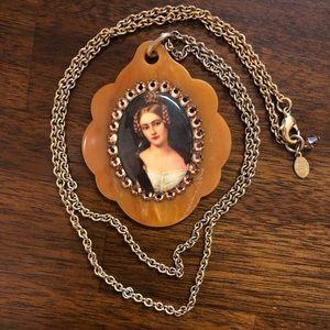 Tarina Tarantino long victorian cameo necklace